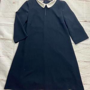 Hobbs Kady Navy Peter Pan Collar Shift Dress